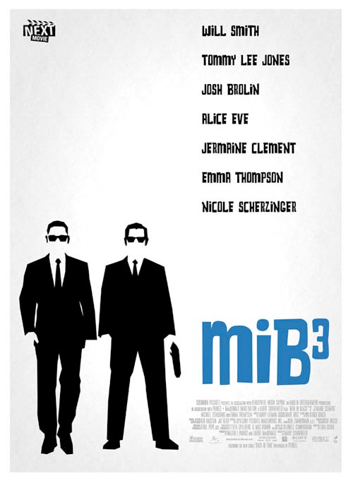 Summer Indie Poster - Men in Black 3