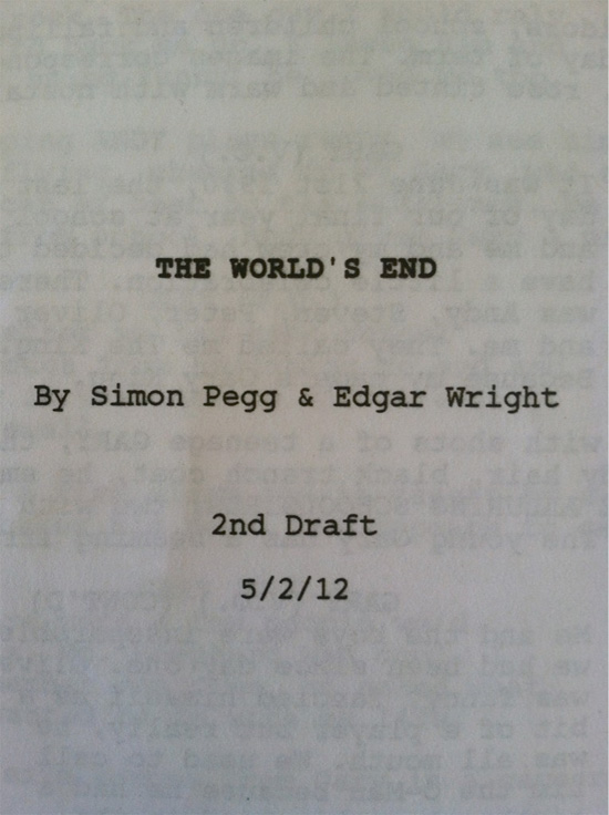 The World's End - Script Title Page