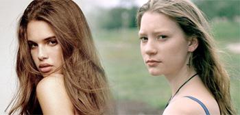 Mia Wasikowska and Model Zoe Aggeliki Circling 'Catching ...