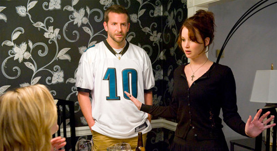 Bradley Cooper and Jennifer Lawrence in Silver Linings Playbook