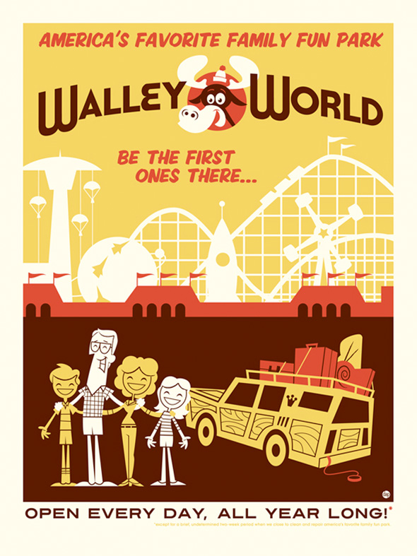 Around the World in an 80s Daze Posters