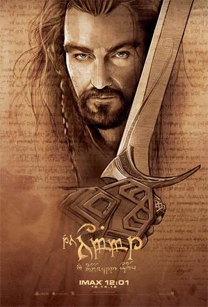 The Hobbit Midnight IMAX Poster - Thorin