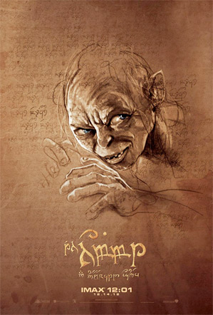 The Hobbit Midnight IMAX Poster - Gollum