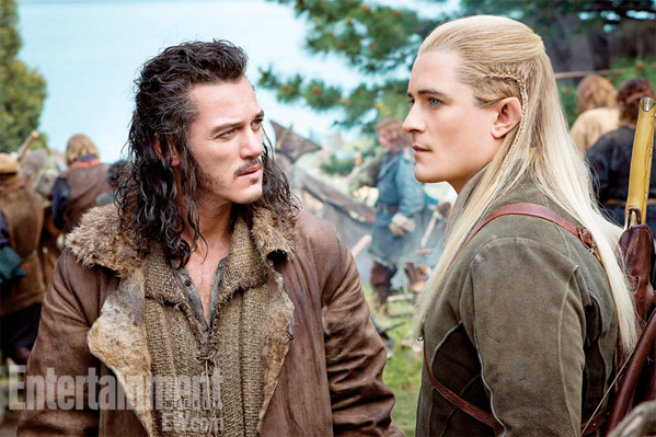 Orlando Bloom & Luke Evans in The Hobbit: There and Back Again