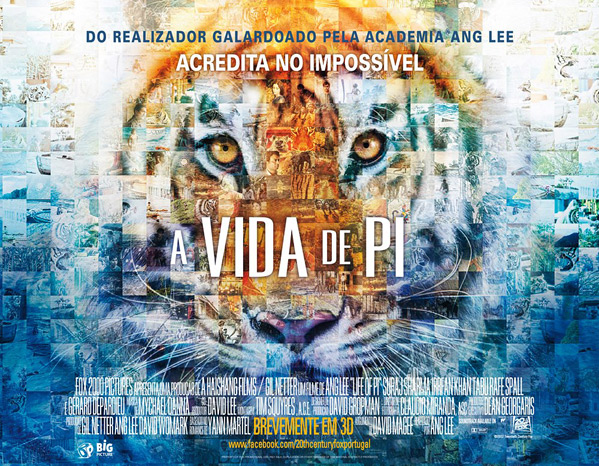Ang Lee's Life of Pi Mosaic Quad Poster
