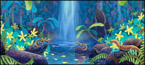 Katy Wu - Pixar's Newt Concept Art