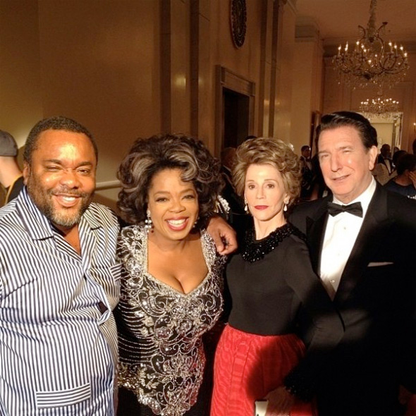 Oprah Winfrey, Alan Rickman and Jane Fonda The Butler