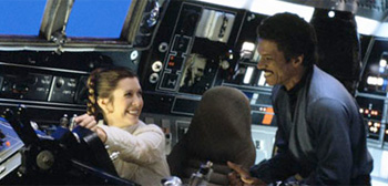 Carrie Fisher and Billy Dee Williams