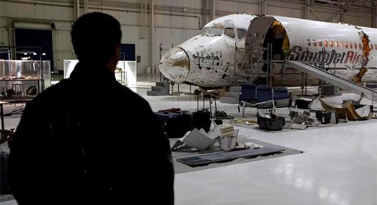 Flight - Denzel Washington with Crashed Plane