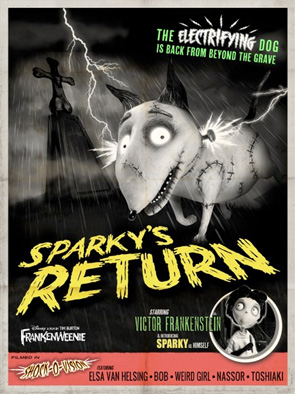 Frankenweenie - Monster Posters - Sparky's Return