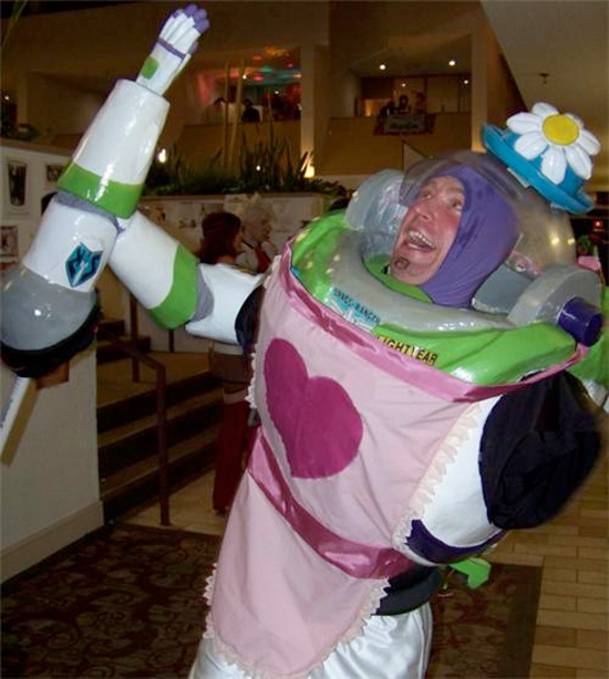 Halloween 2012 - Buzz Lightyear as Mrs. Nesbitt from Toy Story