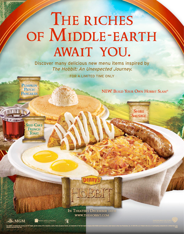 The Hobbit - Denny's In-Store Poster