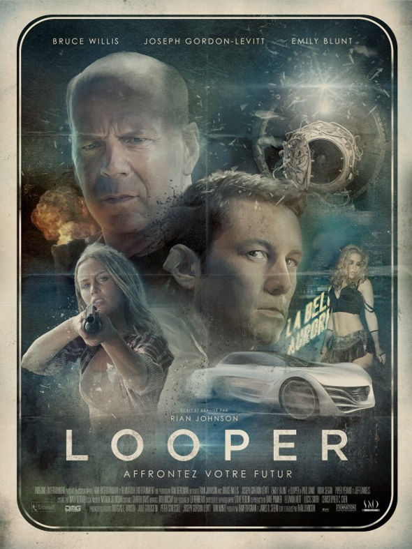 Looper - French Poster