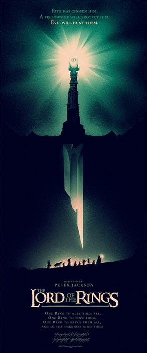 Lord of the Rings - Olly Moss Poster - Green