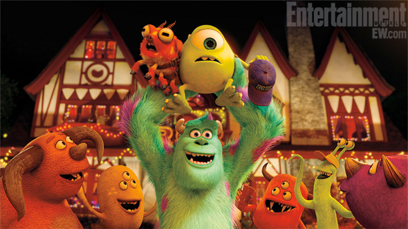 Monsters University - First Look - Mike and Sully at a Frat Party