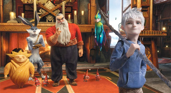 Rise of the Guardians - Team in Santa's Workshop
