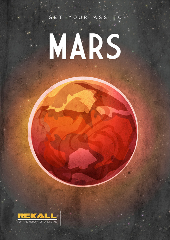 Sci-Fi Travel Posters - Mars