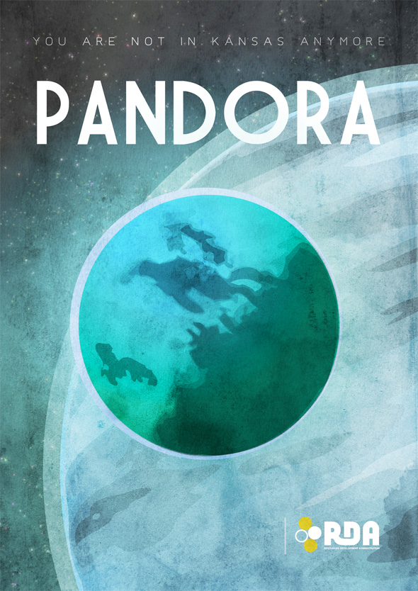 Sci-Fi Travel Posters - Pandora
