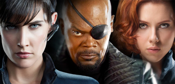 Maria Hill / Nick Fury / Black Widow