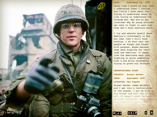 Matthew Modine's Full Metal Jacket Diary
