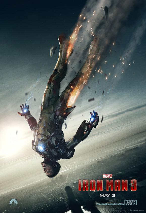 Iron Man 3 Falling Teaser Poster