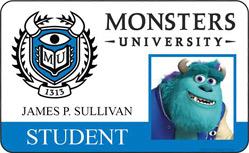 Monsters University ID - James. P Sullivan