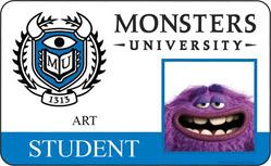 Monsters University ID - Art