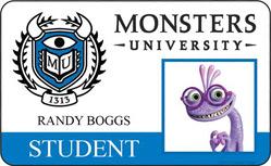 Monsters University ID - Randy Boggs