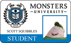 Monsters University ID - Scott Squibbles