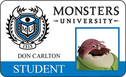 Monsters University ID - Don Carlton