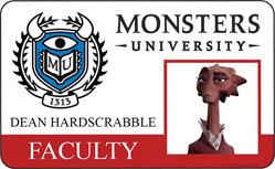 Monsters University ID - Dean Hardscrabble