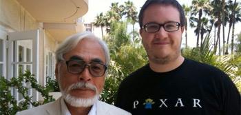 Miyazaki and Alex in 2009