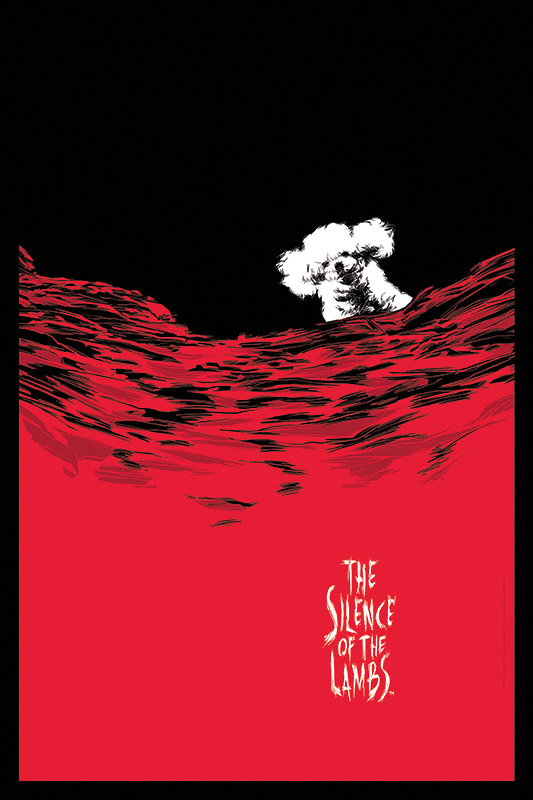 Silence of the Lambs Wine Art - Caesar Moreno