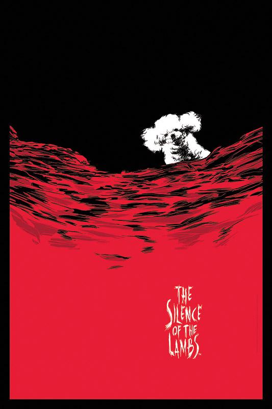 Silence of the Lambs Wine Art - Caesar Moreno