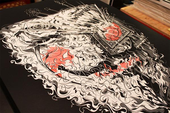Cesar Moreno's V for Vendetta Poster Art