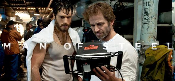 Henry Cavill & Zack Snyder on the Man of Steel Set