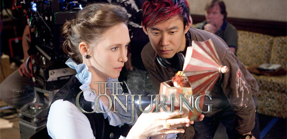 Vera Farmiga & James Wan on The Conjuring Set