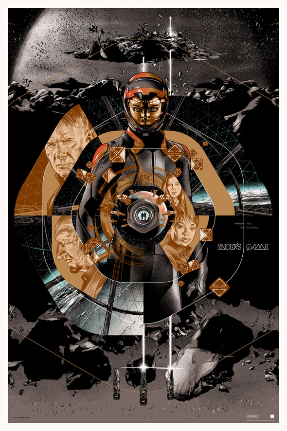Ender's Game Martin Ansin Mondo Poster