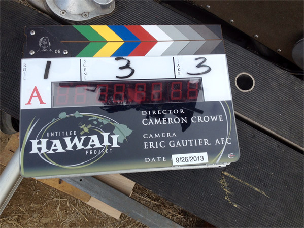Cameron Crowe Hawaiian Film Clapboard