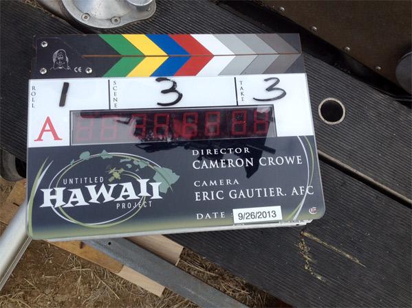Cameron Crowe Hawaiian Film Clapboard