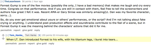 Tom Hanks Reddit AMA