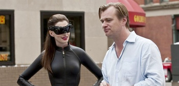 Anne Hathaway and Christopher Nolan
