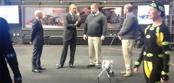 Obama Visits DreamWorks Animation