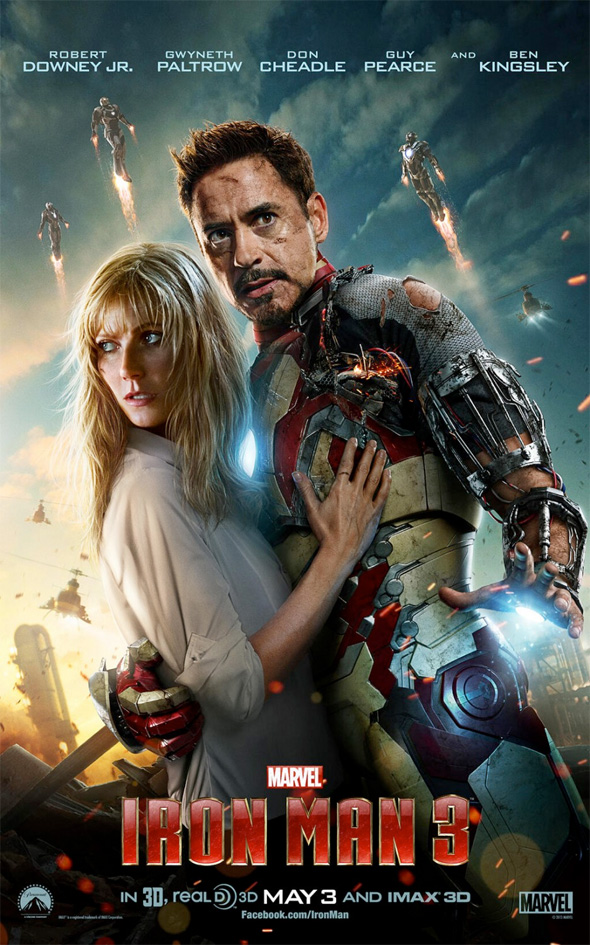 Iron Man 3 - Tony Stark and Pepper Potts Poster
