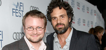 Rian Johnson and Mark Ruffalo
