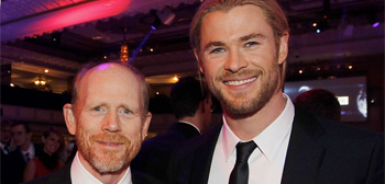 Ron Howard and Chris Hemsworth