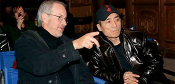 Steven Spielberg and Zhang Yimou