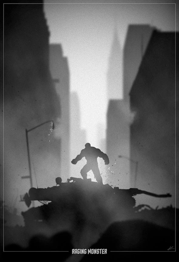 Superhero Noir - Hulk