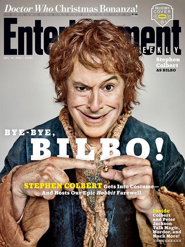 The Hobbit - Stephen Colbert EW Cover