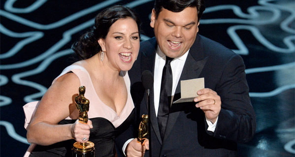 Best Song Winners: Kristen Anderson-Lopez & Robert Lopez for Frozen